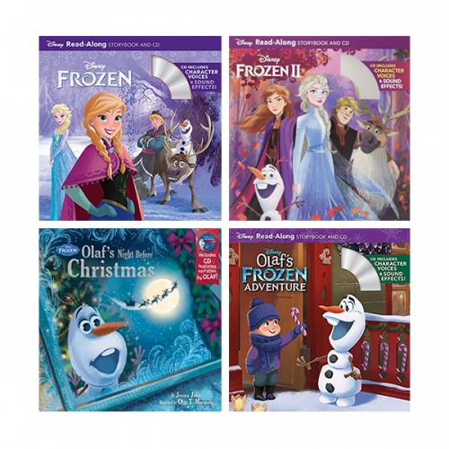 디즈니 Read-Along : Frozen Book & CD 4종 세트 (Paperback & CD)