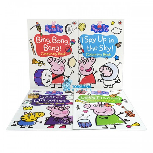 ★키즈코믹콘★ Peppa Pig Colouring - 4 Books Set (Paperback, 영국판) (CD 없음)