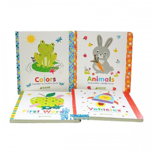 Clever Colorful Concepts 보드북 4종 세트 (Board Book) (CD미포함)