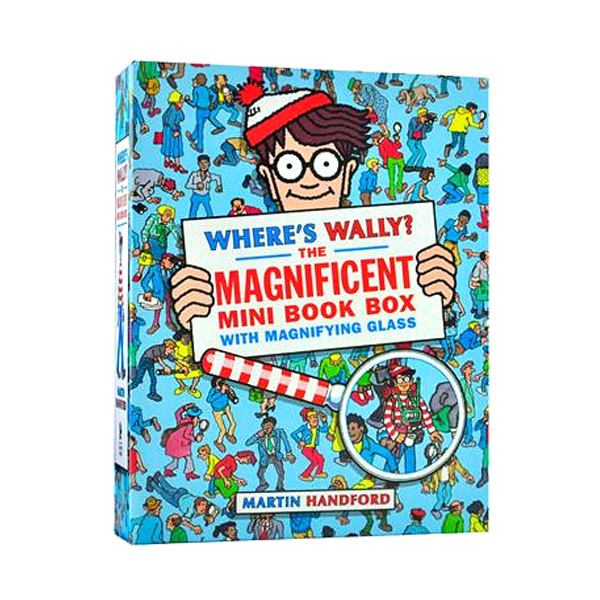 Where's Wally? The Magnificent Mini Book Box : 5종 Set (Paperback+돋보기)