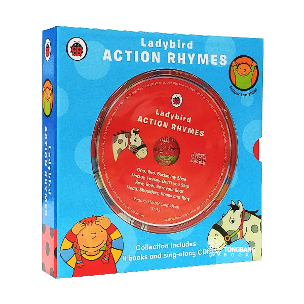 Ladybird Action Rhymes Collection (Board Book & CD, 4 Books + 1CD, 영국판)