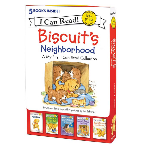 My First I Can Read : Biscuit's Neighborhood : 5 Fun-Filled Stories in 1 Box! (Paperback)
