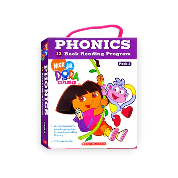 Dora the Explorer : Phonics Reading Program Pack 2 (12 Paperbacks + 1 CD)