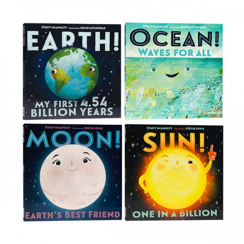 Sun Earth Moon Ocean - 4 Books Set (Paperback) (CD없음)