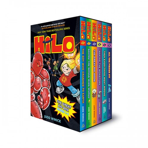 Hilo Book The Great Big 6 Books Box Set (Hardcover, Graphic Novel) (CD미포함)