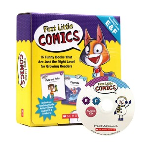 First Little Comics : Guided Reading Levels E & F (Book & CD)