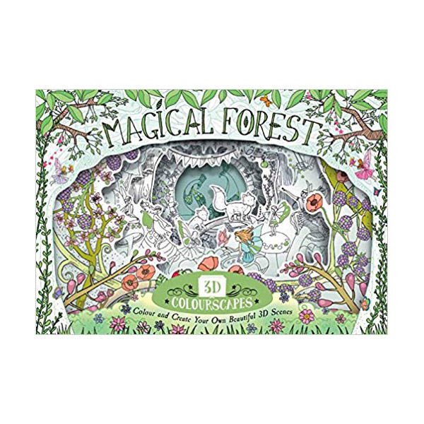 3D Colourscapes: Magical Forest: Colour and Create Your Own Beautiful 3D Scenes (Paperback)