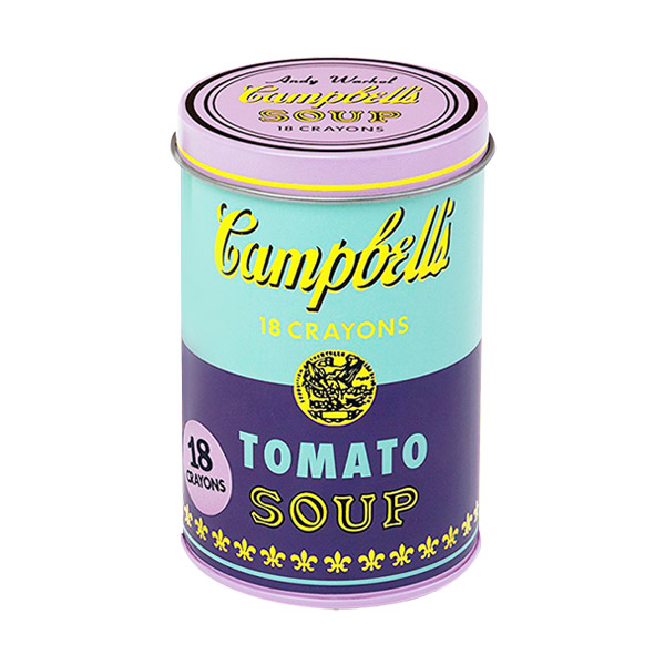 Andy Warhol Soup Can Crayons Purple (Stationery)