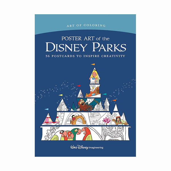 Art of Coloring: Poster Art of the Disney Parks: 36 Postcards to Inspire Creativity (Cards)