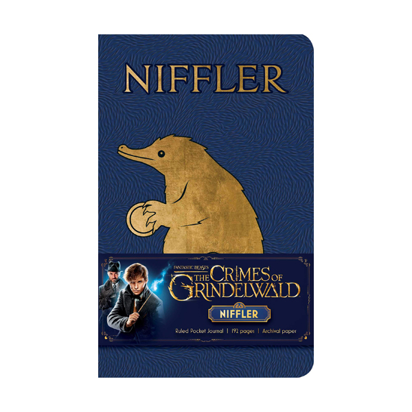 Fantastic Beasts The Crimes of Grindelwald : Niffler Ruled Pocket Journal (Note)