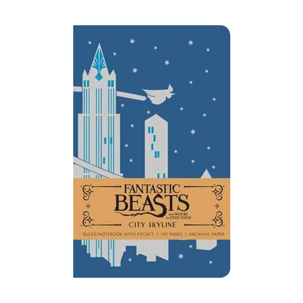 Fantastic Beasts and Where to Find Them : City Skyline Hardcover Ruled Notebook (Hardcover)