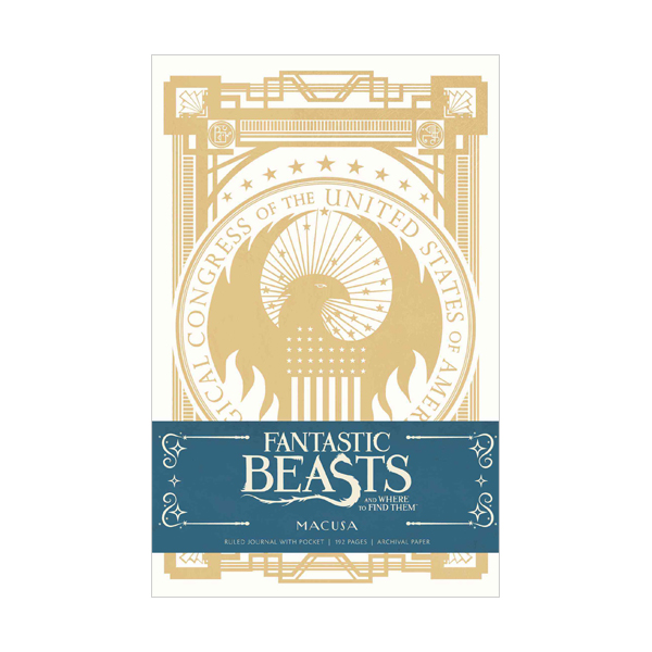 Fantastic Beasts and Where to Find them : MACUSA Hardcover Ruled Journal (Hardcover)