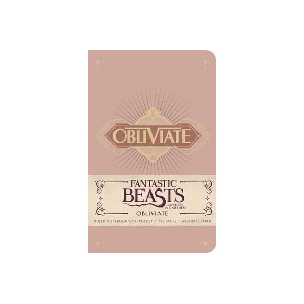 Fantastic Beasts and Where to Find Them : Obliviate Hardcover Ruled Notebook (Hardcover)