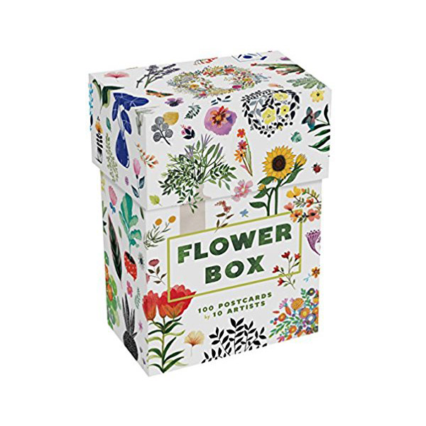 Flower Box: 100 Postcards by 10 artists (Card Book)