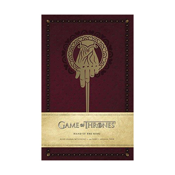 Game of Thrones : Hand of the King Hardcover Ruled Journal (Hardcover)