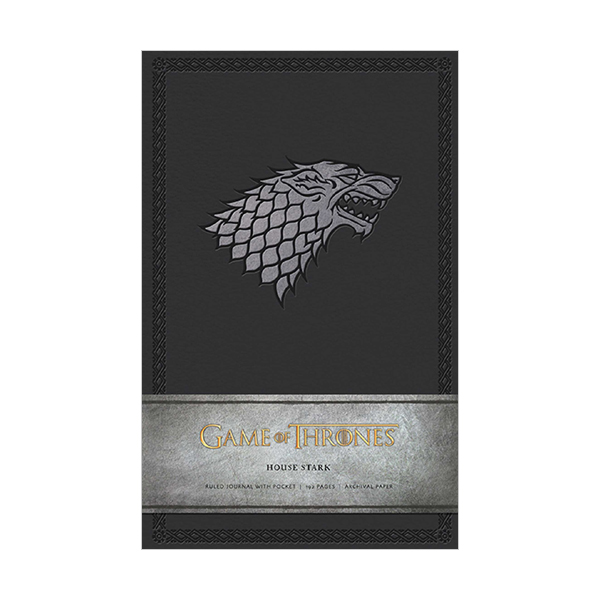 Game of Thrones : House Stark Hardcover Ruled Journal (Note)