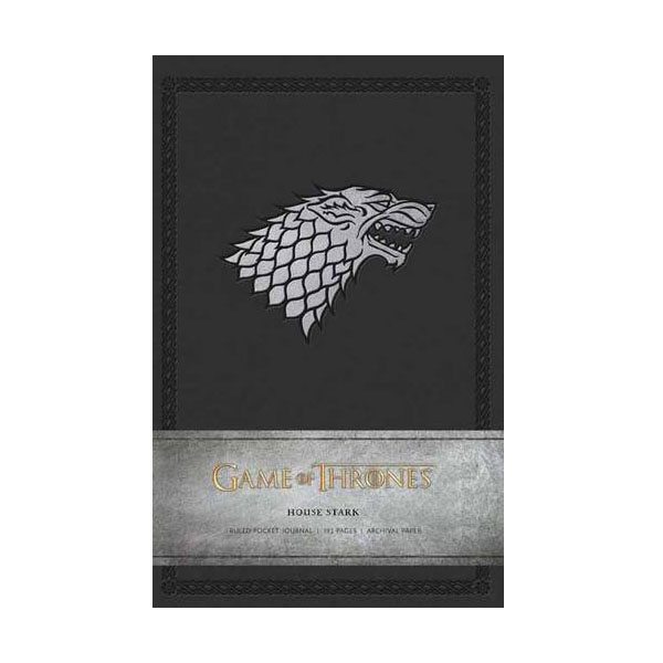 Game of Thrones : House Stark Ruled Pocket Journal (Hardcover)