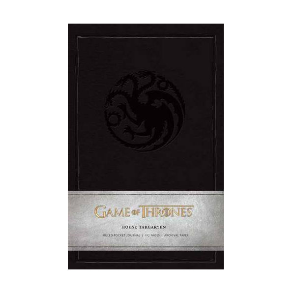 Game of Thrones : House Targaryen Ruled Pocket Journal (Hardcover)