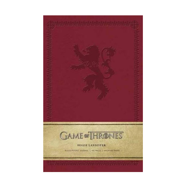Game of Thrones: House Lannister Ruled Pocket Journal (Hardcover)