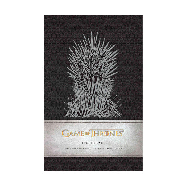 Game of Thrones: Iron Throne Hardcover Ruled Journal (Hardcover)