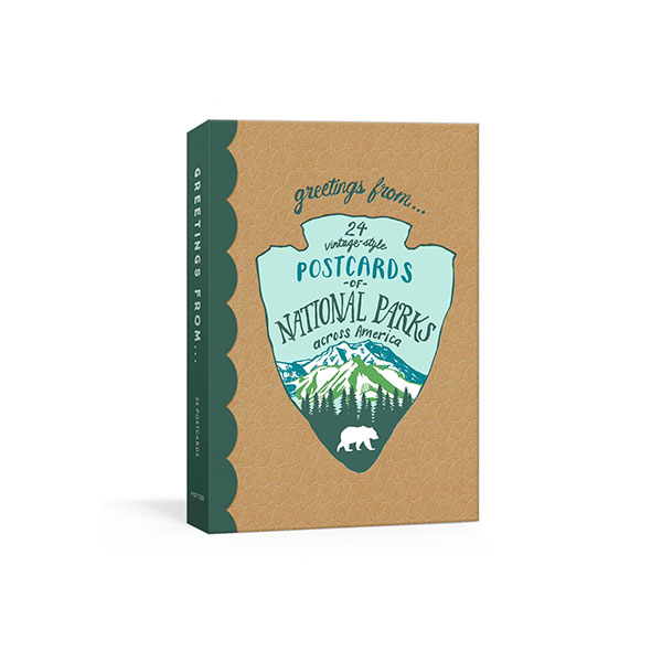 Greetings From : 24 Vintage-Style Postcards of National Parks Across America (Cards)