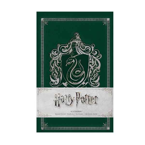 Harry Potter : Slytherin Ruled Pocket Journal (Hardcover)