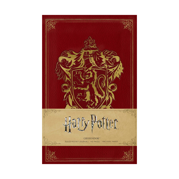 Harry Potter: Gryffindor Ruled Pocket Journal (Hardcover)