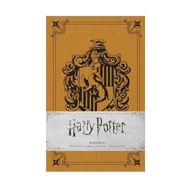 Harry Potter : Hufflepuff Ruled Pocket Journal (Hardcover)
