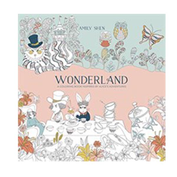 Wonderland : A Coloring Book Inspired by Alice's Adventures (Paperback)