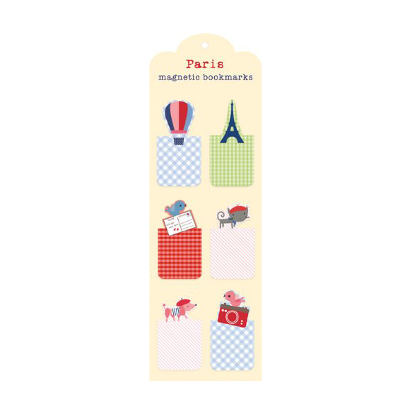 Paris Magnetic Bookmarks