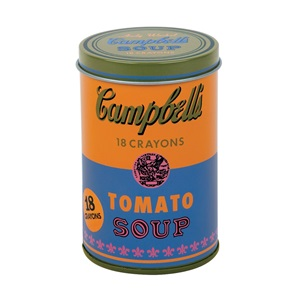 ★키즈코믹콘★Mudpuppy Andy Warhol Soup Can Crayons, Orange (Tin)
