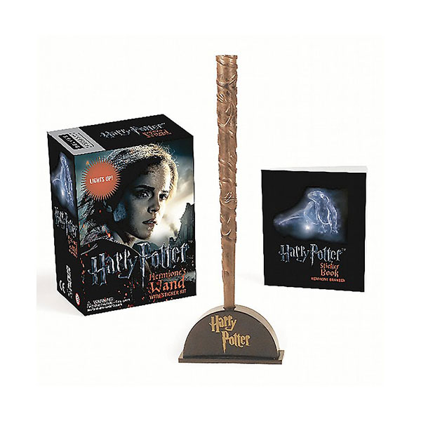 ★키즈코믹콘★Harry Potter Hermione's Wand with Sticker Kit : Lights Up! (Mini Paperback+Miniature)