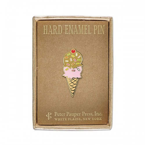 Ice Cream Cone - Hard Enamel Pin (Cloisonne Pin)