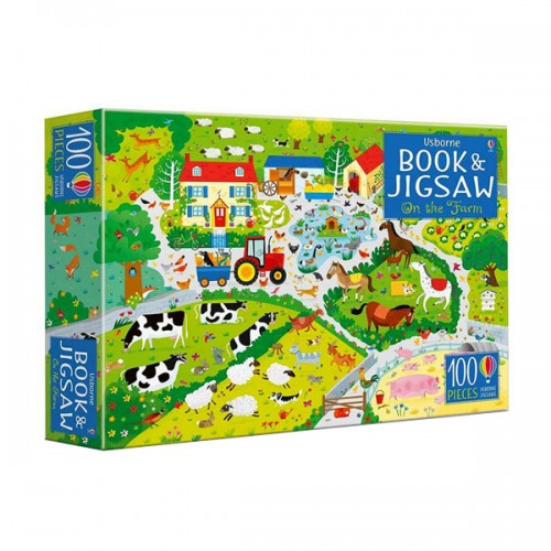 100 Piece On the Farm Book and Jigsaw (Puzzle, 영국판)