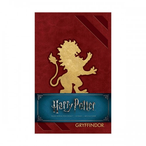 Harry Potter : Gryffindor Hardcover Ruled Journal (Hardcover)
