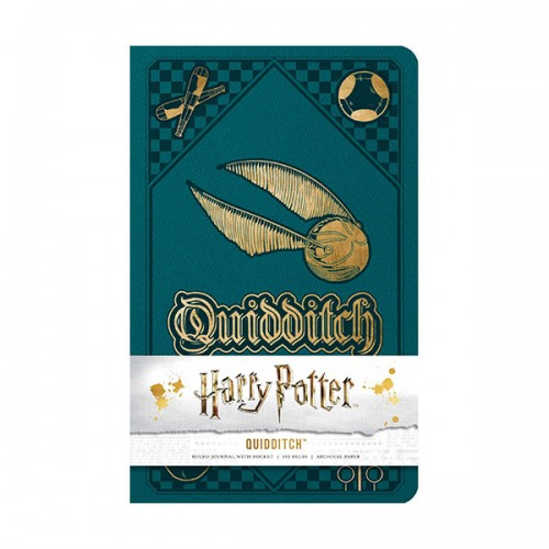 Harry Potter : Quidditch Hardcover Ruled Journal (Hardcover)