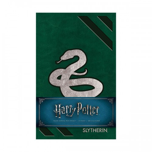 Harry Potter : Slytherin Hardcover Ruled Journal  (Hardcover)
