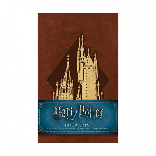 Harry Potter : Hogwarts Ruled Pocket Journal (Hardcover)