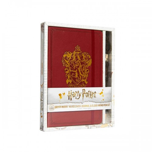 Harry Potter : Gryffindor Hardcover Journal and Elder Wand Pen Set