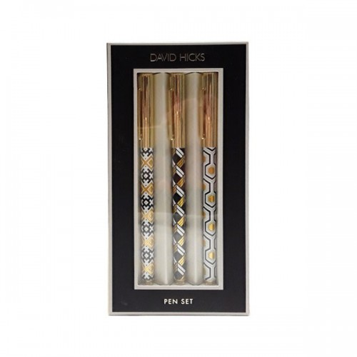 Galison David Hicks Neutrals Pen Set