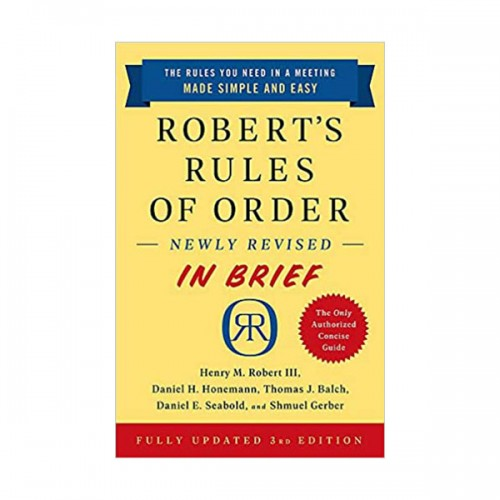 Robert's Rules of Order Newly Revised In Brief (Mass Market Paperback, 3rd)