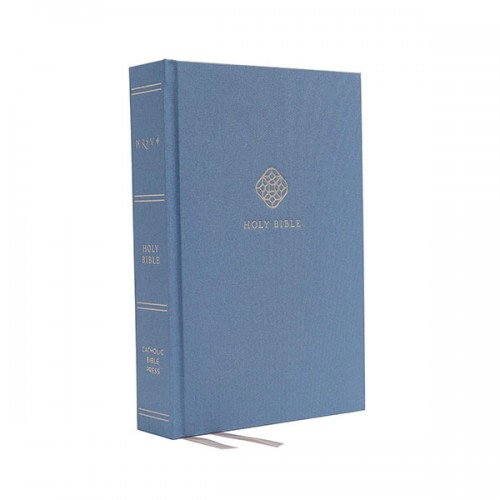 NRSV, Catholic Bible, Journal Edition, Cloth over Board, Blue, Comfort Print : Holy Bible (Hardcover)