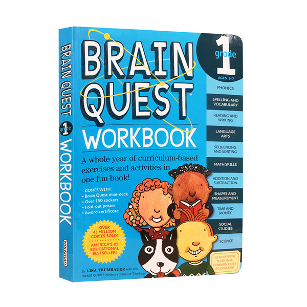 Brain Quest Workbook : Grade 1, Ages 6-7 (Paperback)