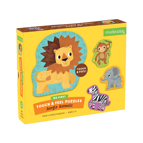 Jungle Animals My First Touch & Feel Puzzles (Puzzle)