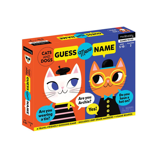 Mudpuppy : Cats and Dogs Guess Meow Name Kids Travel Game