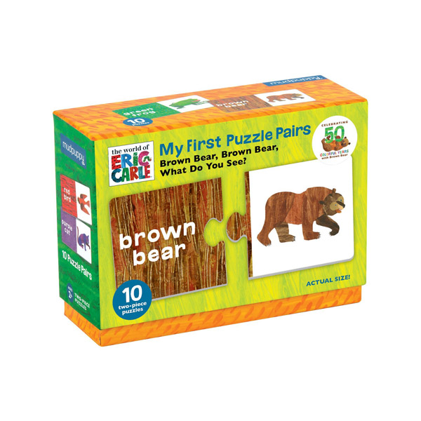 Mudpuppy : Eric Carle Brown Bear Colors Pairs Puzzle (20 Piece)
