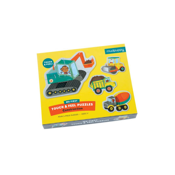 Mudpuppy Construction My First Touch & Feel Puzzle