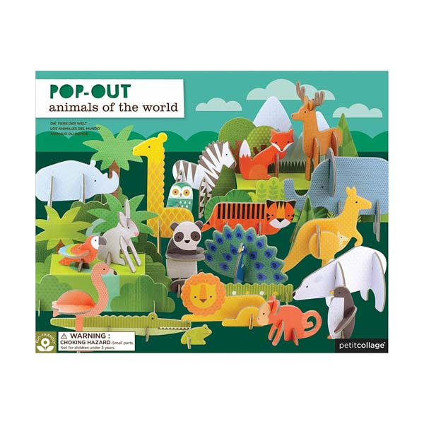 Pop-Out & Play : Animals Of The World Playset