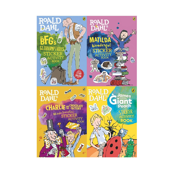 Roald Dahl's Sticker 4 Book Collection (Paperback, 영국판)