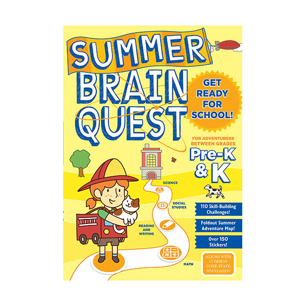 Summer Brain Quest : Between Grades Pre-K & K (Paperback)
